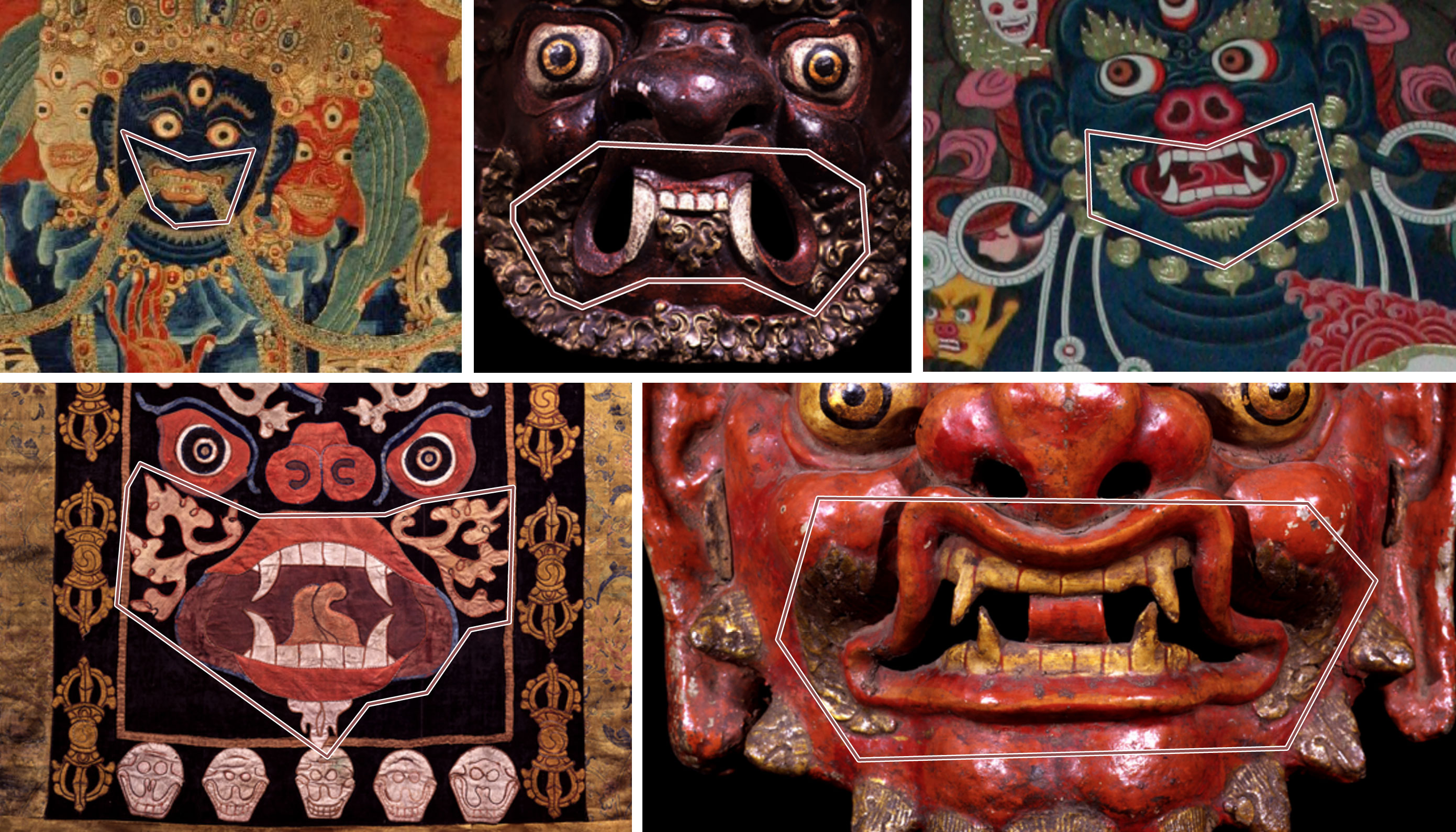 Flames around mouth examples